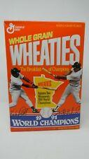 Wheaties 1991 World Champions MN Twins- Herbek and Puckett- Full Unopened