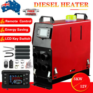 Diesel Air Heater 5KW 12V All IN One Thermostat For Caravan Motorhome Trailer AU