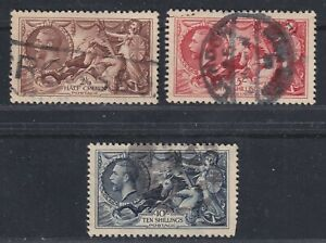 Great Britain SG 440-452 VF Used 1935 Re-engraved Seahorses Set CV £190