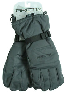 Arctix Mens S/L/2XL Insulated Snowcat Gloves Winter Cold-Weather Charcoal Gray
