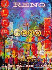 Reno Nevada United States America Vintage Travel Advertisement Art Poster