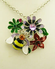 Joan Rivers Floral Pin/Pendant Necklace (comes w/ box/pouch/J R romance card)