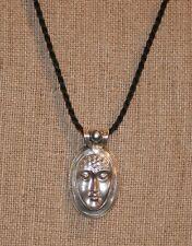 Vintage Tabra Quan Yin Goddess Face Silver & Pearl Pendant!