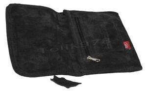 Tabaktasche Feinschnittbeutel Echt Leder XL schwarz Drehertasche Tabak Tasche