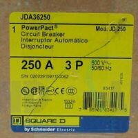 JDA36250 - Square D 250 A 3 Pole 600 V Molded Case Breaker  NEW IN BOX  Warranty