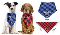 Pet Dog Happy Birthday Boy Girl Bandana Cute Neckerchief Ties Party Small Medium