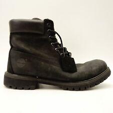 "Timberland Mens 10073 Classic 6"" Premium Waterproof Black Leather Boot Size 11"