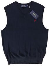 Polo Ralph Lauren Mens S Pima Cotton Sweater Vest Newport Navy