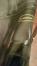 "Bkack &Yellow  Steel toe Hip Boots Sz 10 32"""