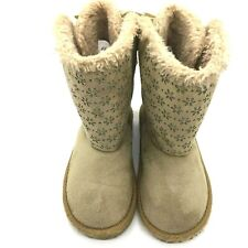 CRAZY 8 Suede Faux Fur Lined Fur Girls Boots Tan