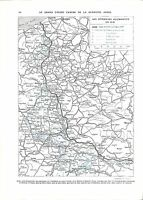 WWI Map Carte Bataille de la Somme Saint-Quentin Offensives  A ILLUSTRATION