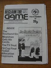 1988/1989 Reclaim The Game: The National Newsletter Of The Football Supporters A