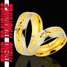 2 Ringe Eheringe Trauringe Verlobungsringe GOLD Platiert Gravur GRATIS TE75-1
