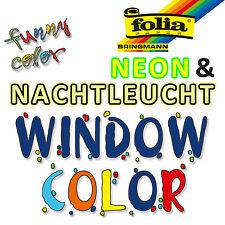 folia Window Color 80 ml Neon- & Nachtleuchtfarbe Leuchtfarbe (4,56€/100ml)