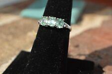 "2.95ct Kyanite Ring Sz 6 / Earrings & Pendant w/20 ""Chain Set Platinum Plated"