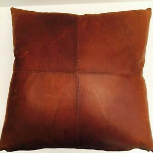 leather.stor#205 Penny Brown Regular Design Pillow Home decorative Cushion Cover