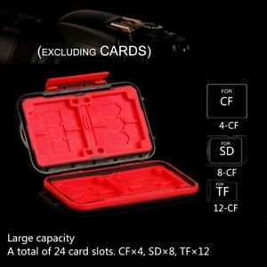 Micro SD CF Card Case Memory Card Storage Carrying Wallet Holder Protector Case