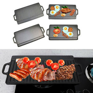Non-Stick Stove Top Hob Grill Plate Pan Fry Hotplate Griddle BBQ Kitchen Cooking