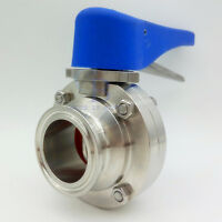 "1.5"" Sanitary Stainless 304 Clamp Multi-Position Handle trigger Butterfly Valve"