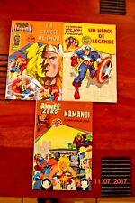 3 Albums de la série: Thor, Captain america, Kamandi 1979 Aredit Présente.