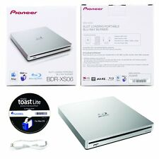 USED Pioneer BDR-XS06 6x Blu Ray CD DVD Slim External USB 3.0 Slot Burner Drive