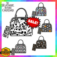 Nightmare Before Christmas Women Purse + Wallet Set Tote Handbag Gift Jack Sally