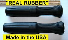 Rough Rider Style Motorcycle Handle Bar Grip Set ***REAL RUBBER*** Antique Repro