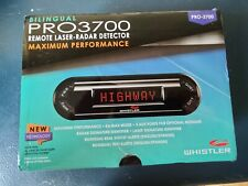 Whistler PRO 3700 Laser Radar Detector 360 Degree Protection Voice Alerts New