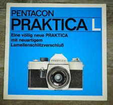PENTACON Prospekt PRAKTICA L von 1972 Kamera Objektive Zubehör Broschüre (X8000