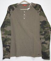 GUESS Langarm Shirt   Größe XXL  Olive Camouflage   Neu mit Etikett