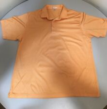 PETER MILLAR Mens Shirt PEACH ORANGE GOLF POLO GOLFING L LARGE