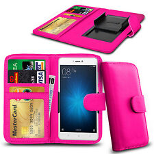 """For Landvo XM300 (5"""") - Clip On PU Leather Flip Wallet Book Case Cover"""