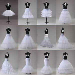 Wedding Prom Petticoat Crinoline Underskirt Hoop/Hoopless/Mermaid/Fishtail Slips