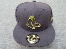NEW ERA 9FIFTY  BOSTON RED SOX GOLD METAL LOGO SNAPBACK HAT