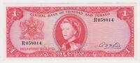 Trinidad & Tobago Banknote 1 Dollar $ 1964 P26b XF AU Rare Sig A. N. McLeod QEII