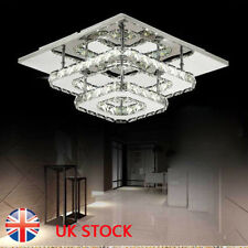 Square 30cm 36W LED Crystal Ceiling lights chandeliers Bilayer Aisle light  New