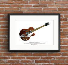 George Harrison's Chet Atkins Tennessean ART POSTER A3 size