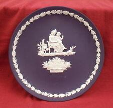 Wedgwood Portland blue jasper ware Mother's Day plate 1975