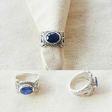 Magnificent Blue Sapphire Sterling Silver Ring
