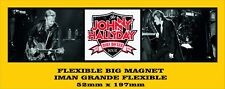 Johnny Hallyday Born Rocker Brian Setzer FLEXIBLE BIG MAGNET IMAN GRANDE A0065