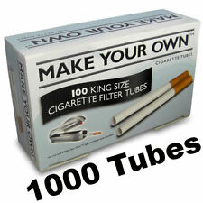 1000 Make Your Own Cig Cigarette Filter Tubes King Size Imperial Tabacco