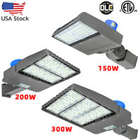 LED Shoebox Parking Lot Street Light 150W 200W 300W Gas Station Garage Warehouse