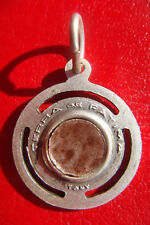 OUR LADY OF ROSARY FATIMA RELIGIOUS OLD CHARM HOLLY EARTH MEDAL RELIQUARY