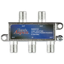 Eagle Aspen P7004AP 4 Port 2600 MHz 2 GHz Satellite Splitter 4 Way All Port Pass