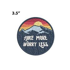 New ListingHike More Worry Less - Mountain Embroidered Patch Iron-on/Sew-on Nature Applique
