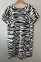 Atmosphere Women's Black White Bodycon Dress Size 18 Striped Party Evening