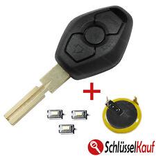 Chiave AUTO BMW e46 e39 e60 m3 z4 x3 hu58 + lir2025 batteria + 3x micro sonda