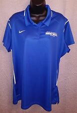 SUNY Buffalo Bulls Blue Polyester Nike Dri-Fit Coachs Golf Polo EUC - Womens 2XL
