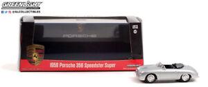 Greenlight 86597 1958 Porsche 356 Speedster Super - Silver 1:43 Scale Diecast