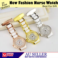 NEW FASHION FANCY WATCH DIAMOND ALLOY MEDICAL NURSE BROOCH  TUNIC FOB  AU SELLER